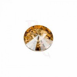 Rivoli Round Stone 1122 14 MM Crystal Golden Shadow