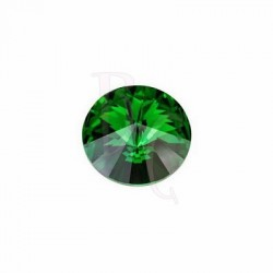 Rivoli Round Stone 1122 14 MM Dark Moss Green