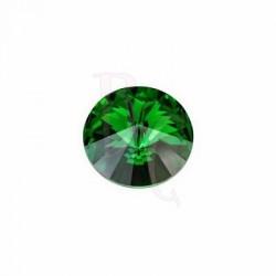 Rivoli Round Stone 1122 14 MM Dark Moss Green