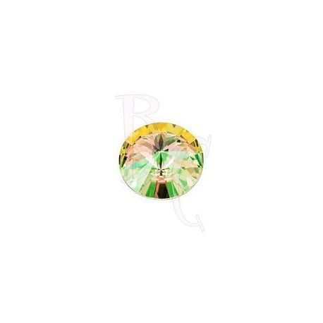 Rivoli Round Stone 1122 12 MM Crystal Luminous Green