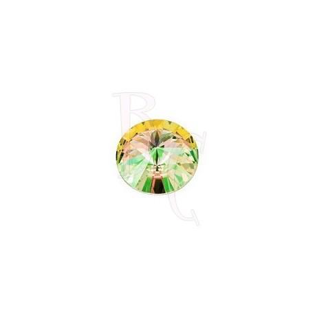 Rivoli Round Stone 1122 12 MM Crystal Luminous Green