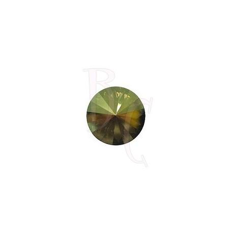 Rivoli Round Stone 1122 12 MM Crystal Iridescent Green