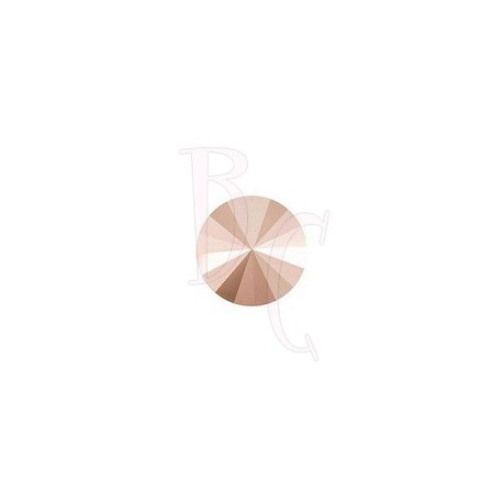 Rivoli Round Stone 1122 12 MM Crystal Rose Gold