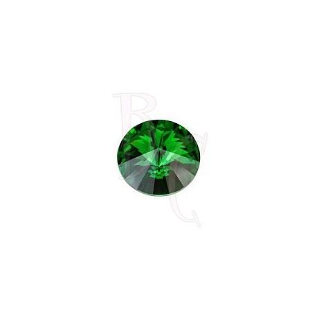 Rivoli Round Stone 1122 12 MM Dark moss green
