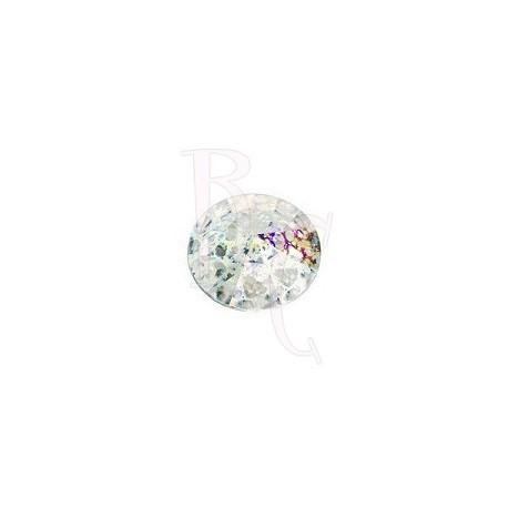 Rivoli Round Stone 1122 12 MM Crystal White Patina