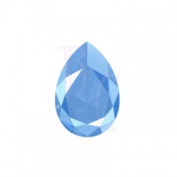 Large Pear Shaped Fancy Stone 4327 30X20 MM Crystal Summer Blue