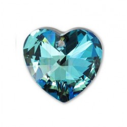 Xilon Heart Pendant Crystal 6228 28 MM Crystal Bermuda Blue