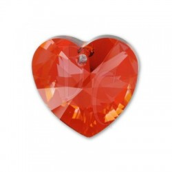 Xilon Heart Pendant Crystal 6228 28 MM Crystal Red Magna