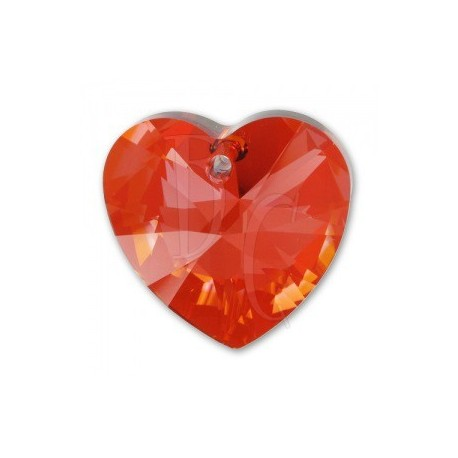 Xilon Heart Pendant Crystal 6228 28 MM Crystal Red Magna