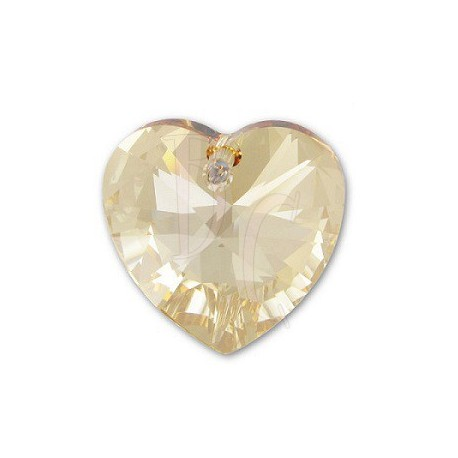Xilon Heart Pendant Crystal 6228 28 MM Crystal Golden Shadow