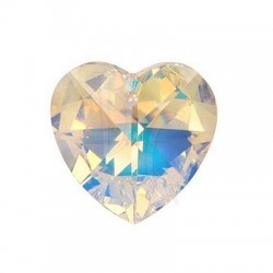 Xilon Heart Pendant Crystal 6228 28 MM Crystal Ab