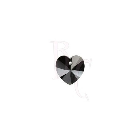 Xilon Heart Pendant 6228 14 MM Jet