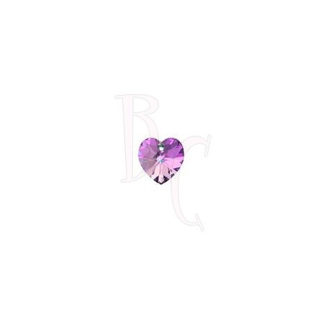 Xilon Heart Pendant 6228 10 MM Crystal Vitrail Light