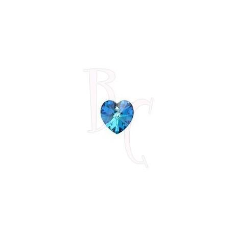 Xilon Heart Pendant  6228 10 MM Crystal Bermuda Blue