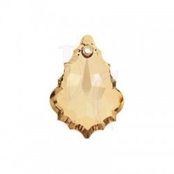 Flat Baroque Pendant 6091 28 MM Crystal Golden Shadow