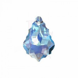 Pendant Baroque 6090 22x15 MM Aquamarine Ab
