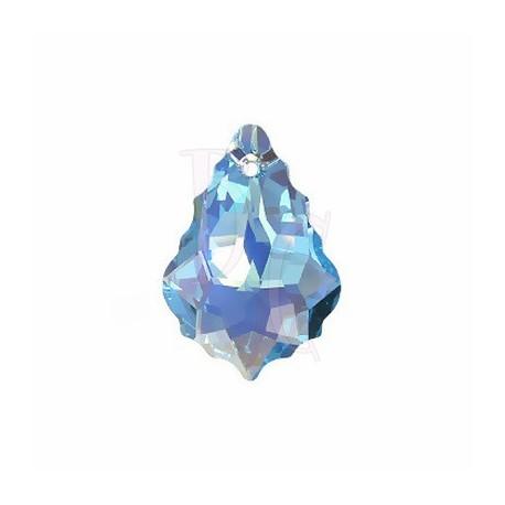 Pendant Baroque 6090 22x15 MM Aquamarine Ab