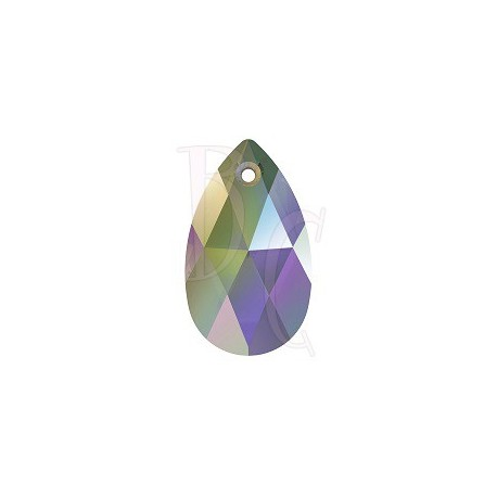 Pear Shaped Pendant 6106 16 MM Crystal Iridescent Green