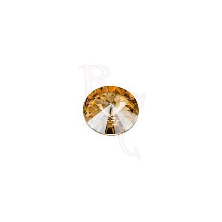 Rivoli Round Stone 1122 12 MM Crystal Golden Shadow