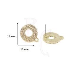 Perno tondo 16x13 mm oro