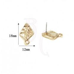 Perno tondo 18X12 mm oro