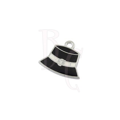 Charms cappellino nero 23x22 mm