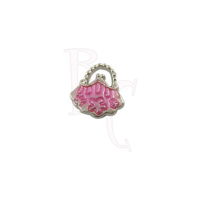 Charms borsettina rosa 15x14 mm