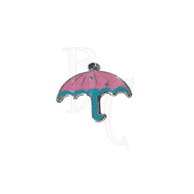 Charms ombrellino rosa 26x28 mm