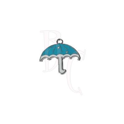 Charms ombrellino azzurro 26x28 mm