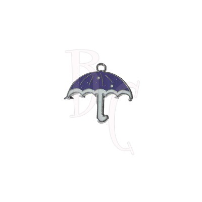 Charms ombrellino viola 26x28 mm