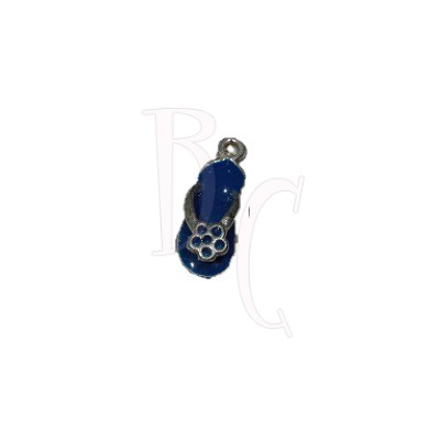 Charms sandalo blu 24x6 mm