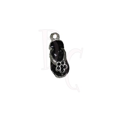 Charms sandalo nero 24x6 mm