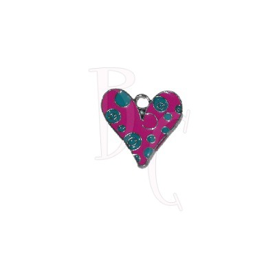 Charms cuore bollicine 19x19 mm
