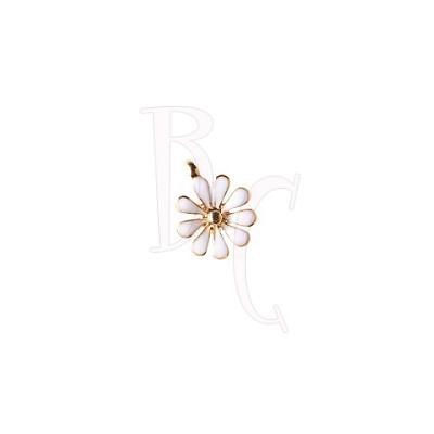Charms fiorellino bianco 12x15 mm