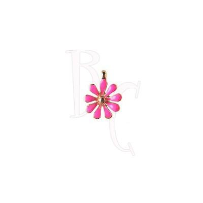Charms fiorellino fucsia 12x15 mm