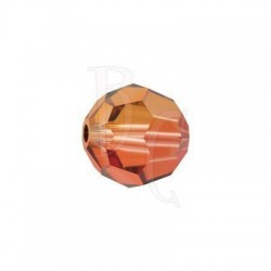 Round swarovski 5000 10 mm Crystal Copper