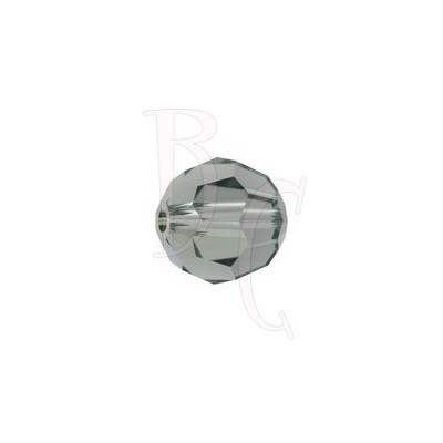 Round swarovski 5000 8 mm Black Diamond