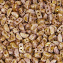 Kos® par Puca® 6x3 mm Opaque Mix Rose / Gold Ceramic Look 10 gr