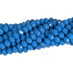 Cipollotti 6x8 mm Opaque Blue Turquoise