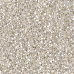Rocaille 15/0 0001F Matte Silver Lined Crystal 10 gr