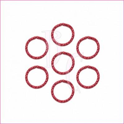 Catena tonda diamantata 24 mm rosso