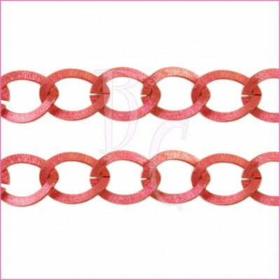 Catena ovale ondulata 20 mm rosso