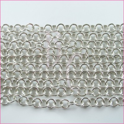 Catena tonda liscia lucida - 12 mm argento