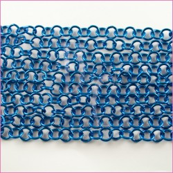 Catena tonda liscia lucida - 12 mm blue