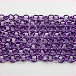 Catena tonda liscia lucida - 12 mm viola