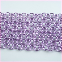 Catena tonda liscia opaca - 12 mm lilla