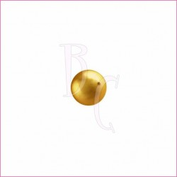 Perla swarovski 5810 6MM Bright Gold