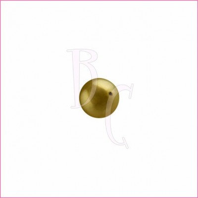 Perla swarovski 5810 8MM Antique Brass