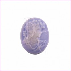 Cammeo in resina donna violetto