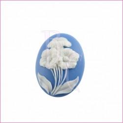 Cammeo in resina fiore bianco